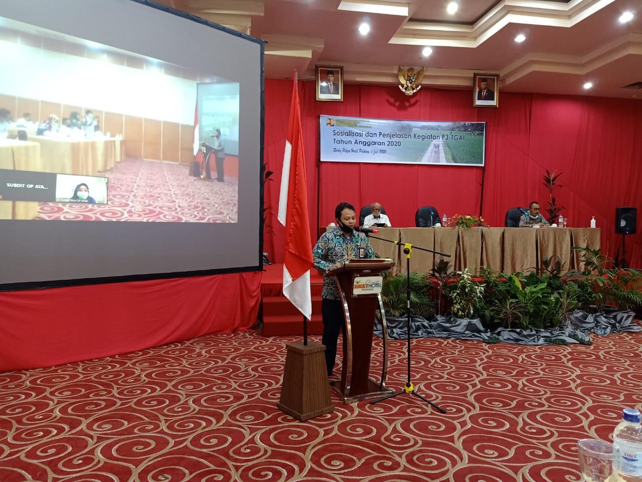BWS Sumatera V berikan sosialisasi kegiatan P3-TGAI Tahun Anggaran 2020