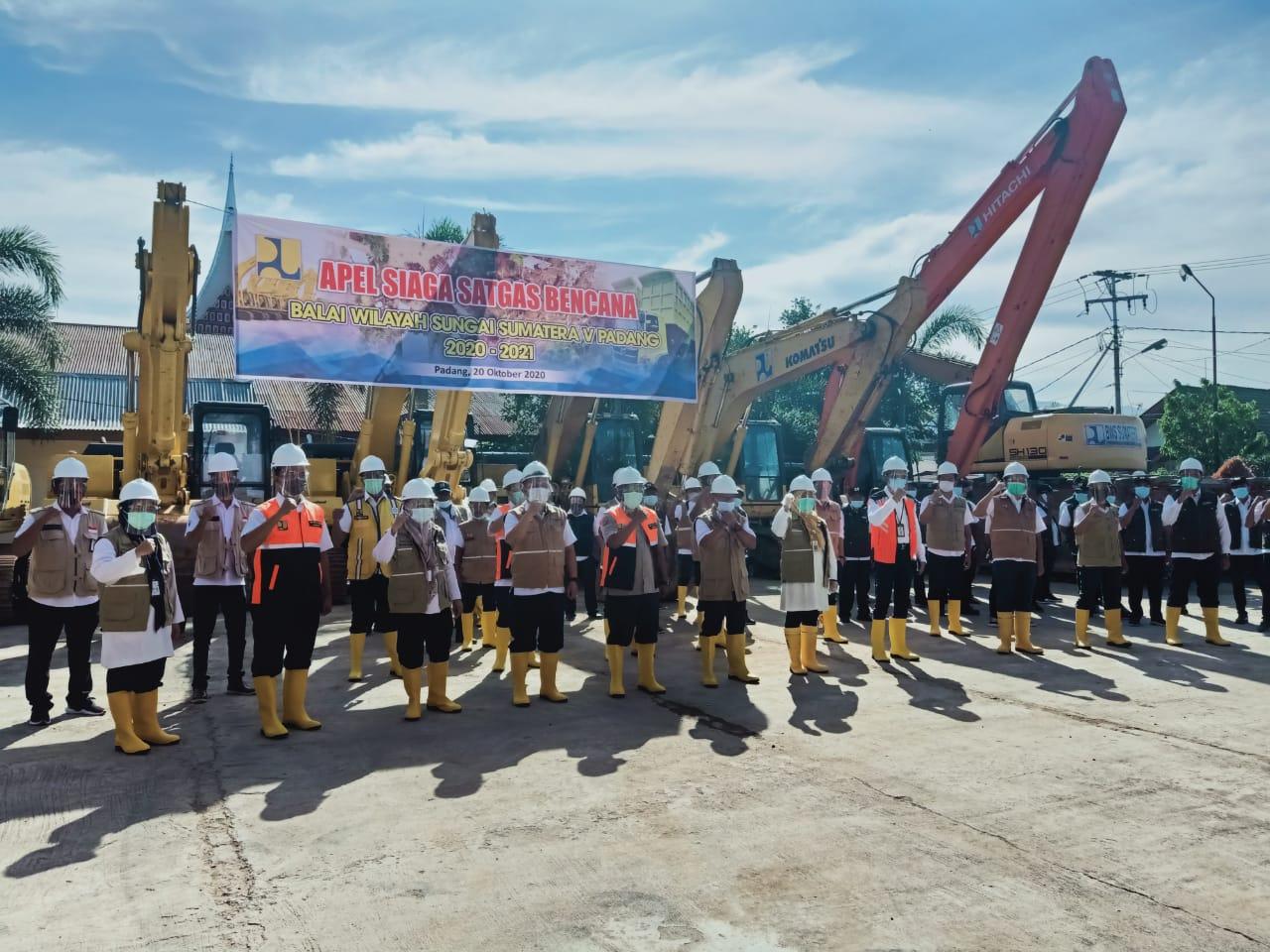 Apel Siaga Satgas Bencana BWS Sumatera V Padang; Siap Siaga Bencana!!