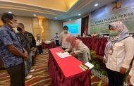 BWS Sumatera V Padang Kembali Lakukan Serah Terima Pekerjaan Pelaksanaan P3-TGAI TA 2020