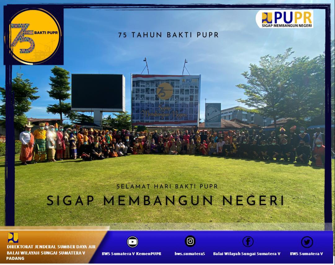 Peringatan Hari Bakti PUPR Ke 75 BWS S V Padang, Gembira dan Taat Protokol