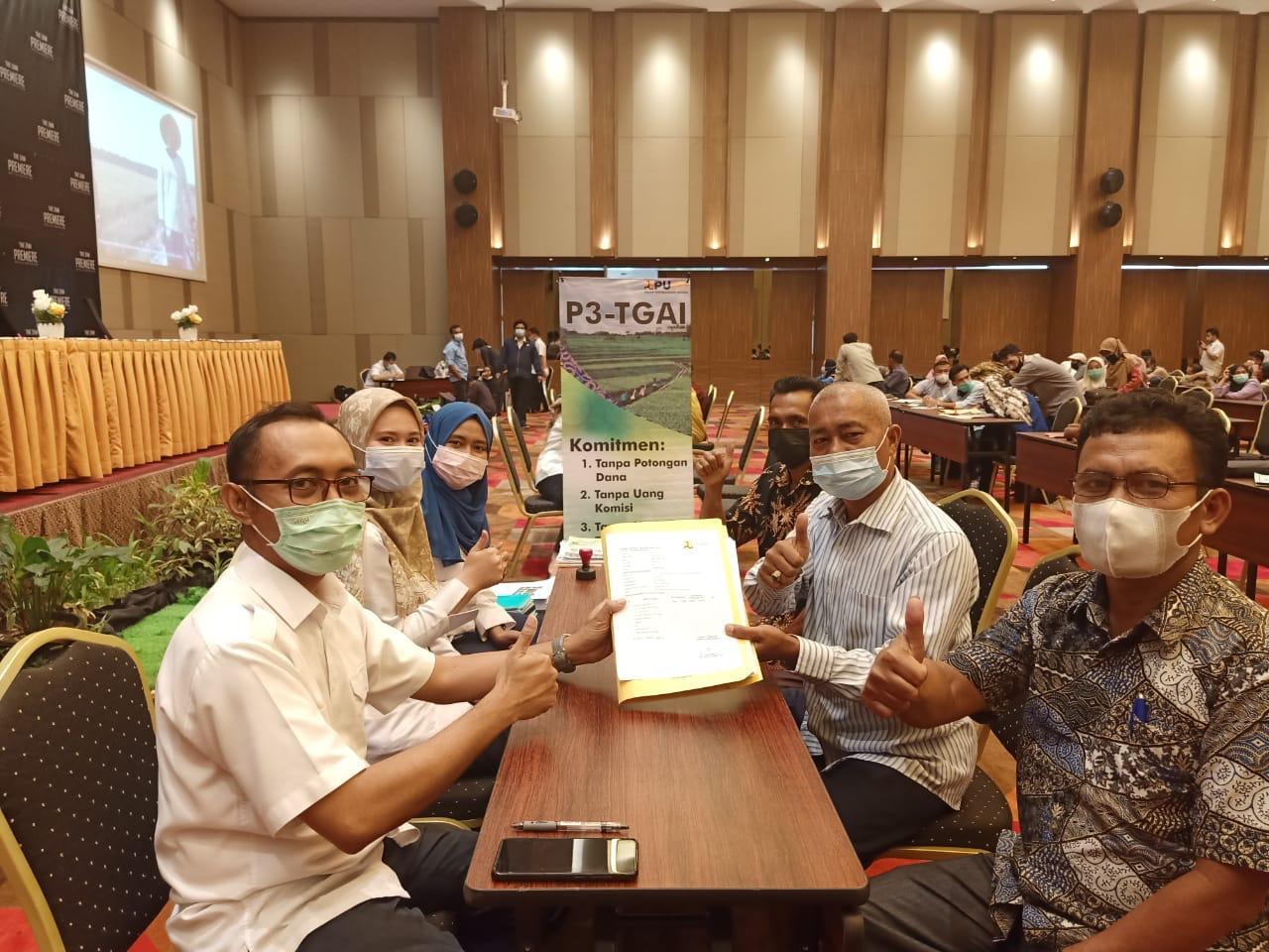 Penandatanganan Perjanjian Kerja Sama (PKS) dan Pakta Integritas P3-TGAI Tahun Anggaran 2021
