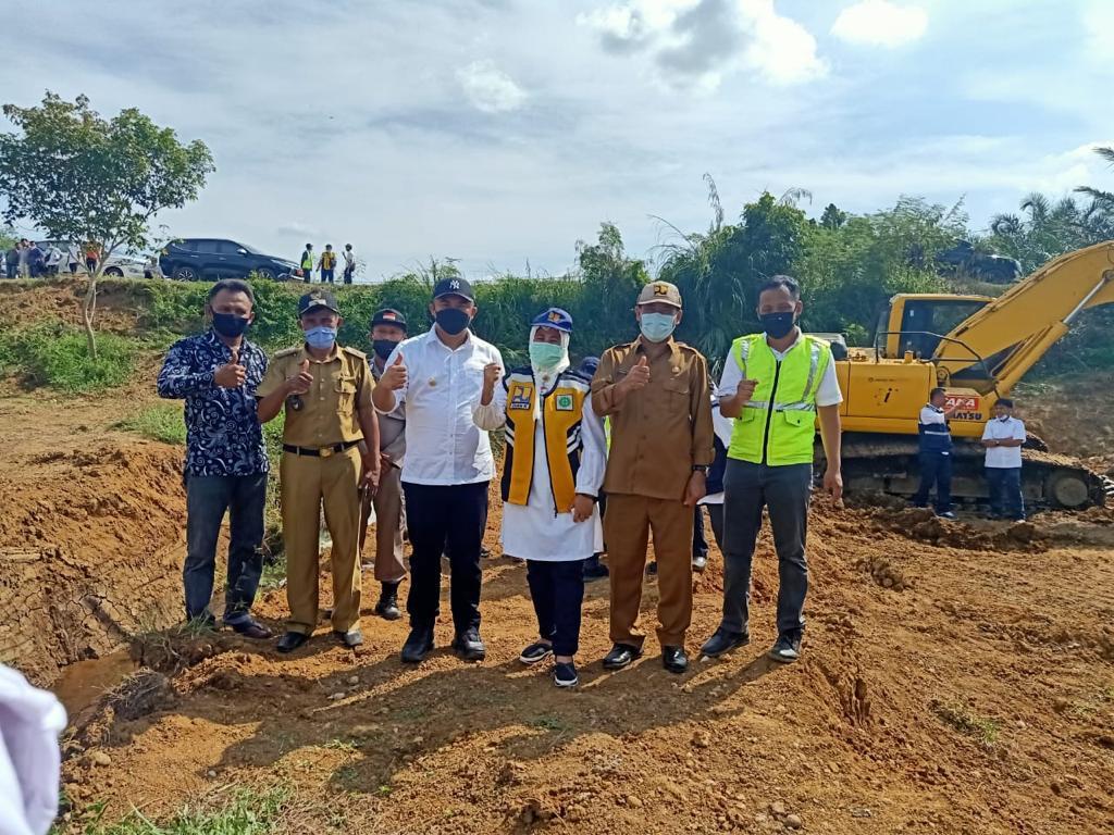 40 Hektar Sawah di Dharmasraya akan segera teraliri melalui saluran Sekunder Jaringan Irigasi Batanghari