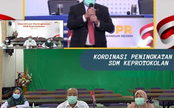 Koordinasi Peningkatan SDM Keprotokolan dilingkungan Kementerian PUPR