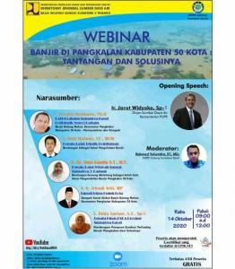 2020-10-14 Gelar Webinar BWS Sumatera V Padang bersama HATHI Cabang Sumatera Barat