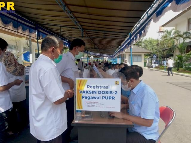 Vaksinasi Pegawai Balai Teknik Sabo Dosis-2